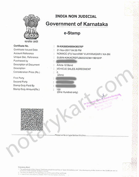 Buy E Stamp Paper Online In Bangalore Karnataka E Stamp Paper Online